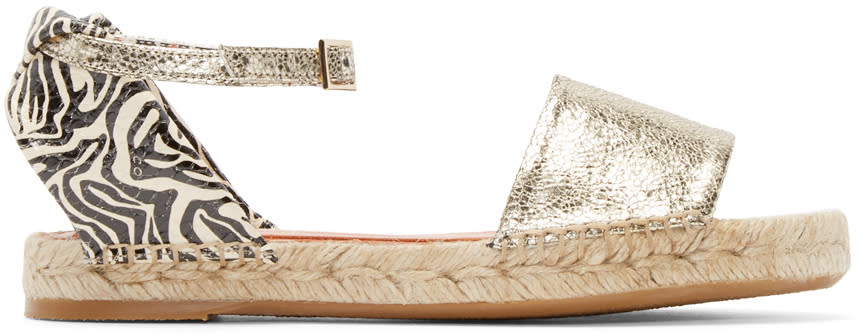 Charlotte Olympia Silver and Zebra Mischevious Espadrilles