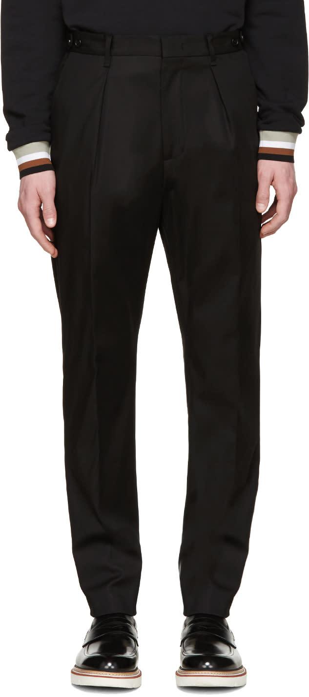 Msgm Black Basic Trousers