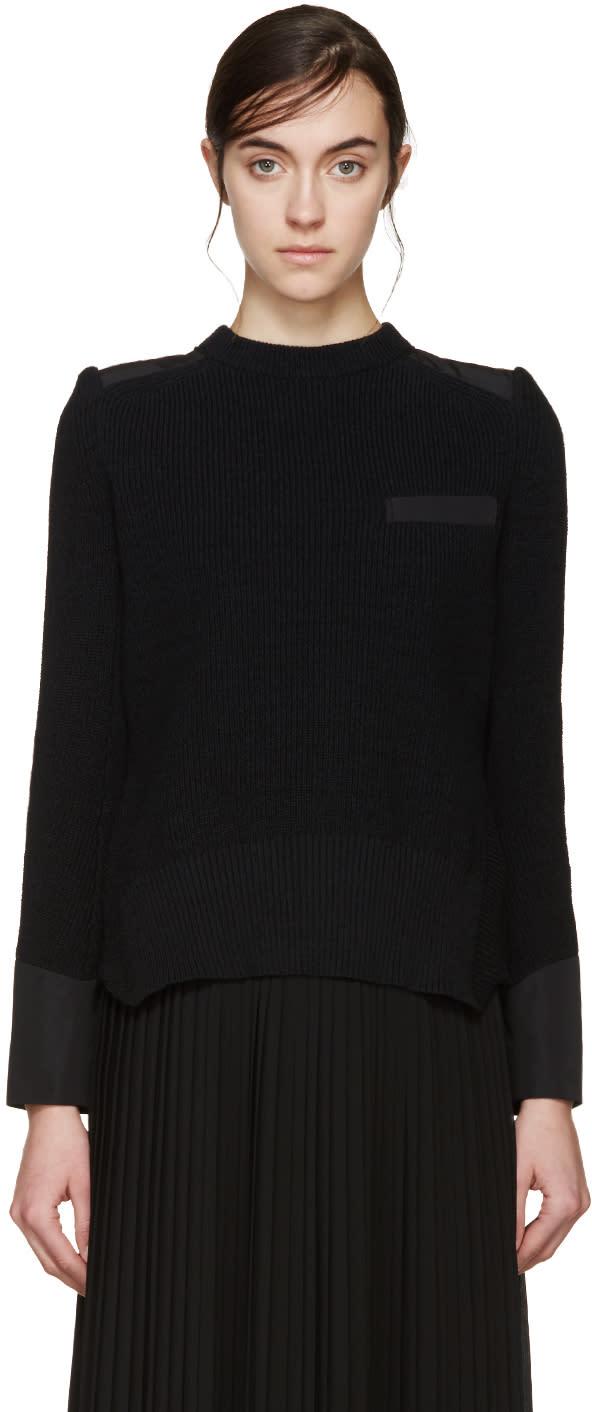 Sacai Black Knit Layered Sweater