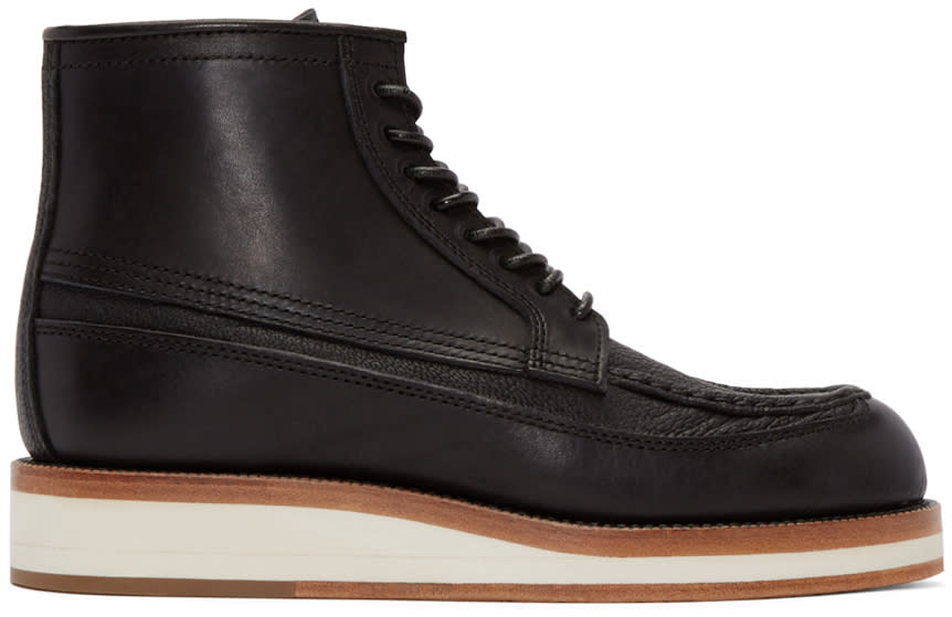 Sacai Black Leather Hender Scheme Edition Boots