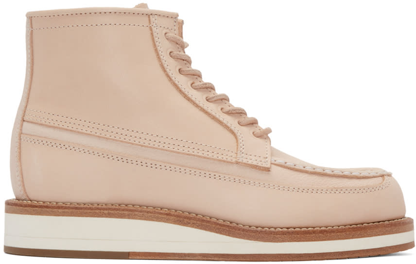 Sacai Pink Hender Scheme Edition Leather Boots