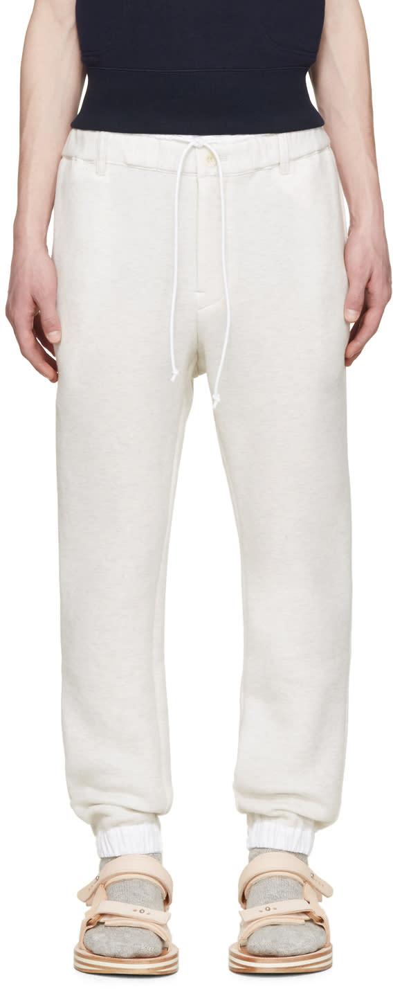 Sacai Beige Bonded Jersey Lounge Pants