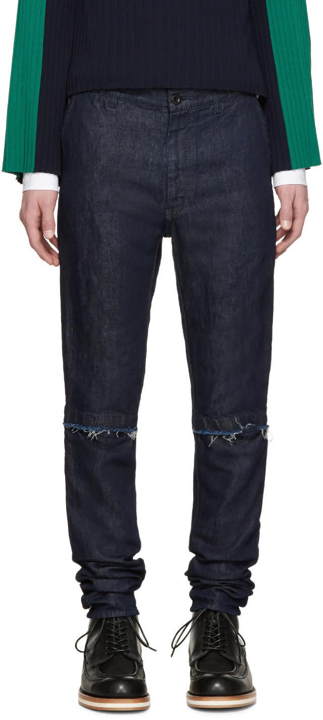 Sacai Blue Denim Trousers