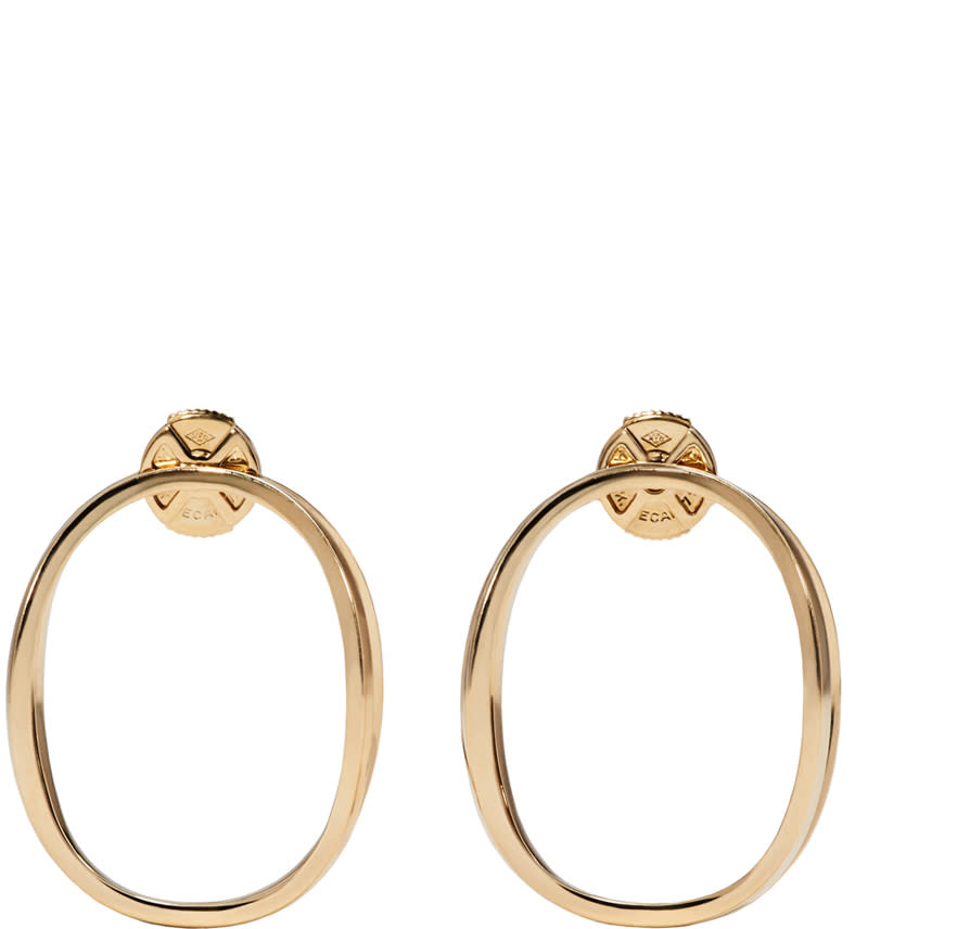 Image of Delfina Delettrez Gold Little Ear-clipse Earrings