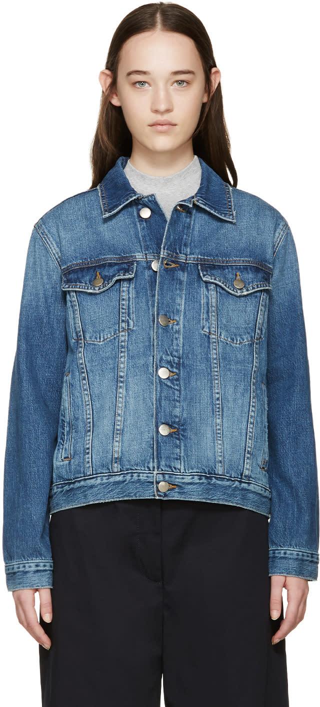 Frame Denim Blue Denim Le Original Jacket