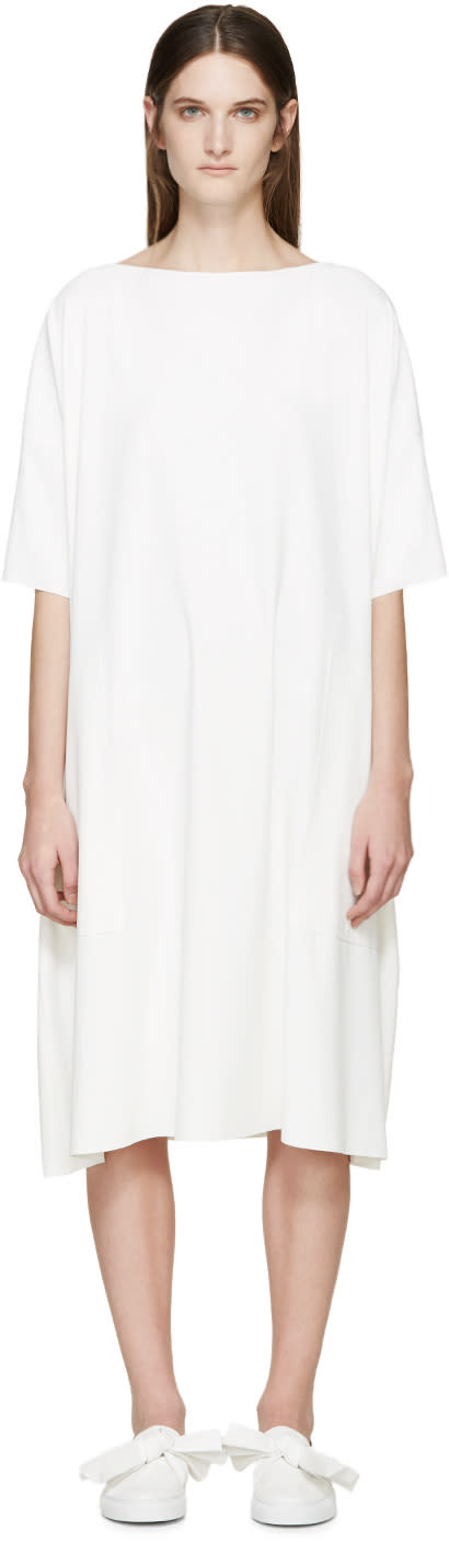 Cédric Charlier White Crepe Dress