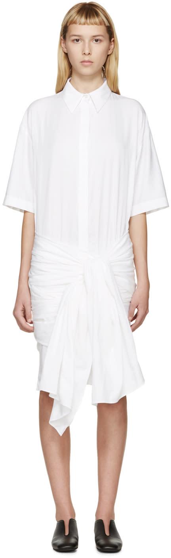 Stella Mccartney Ivory Wrapped Martine Shirt Dress