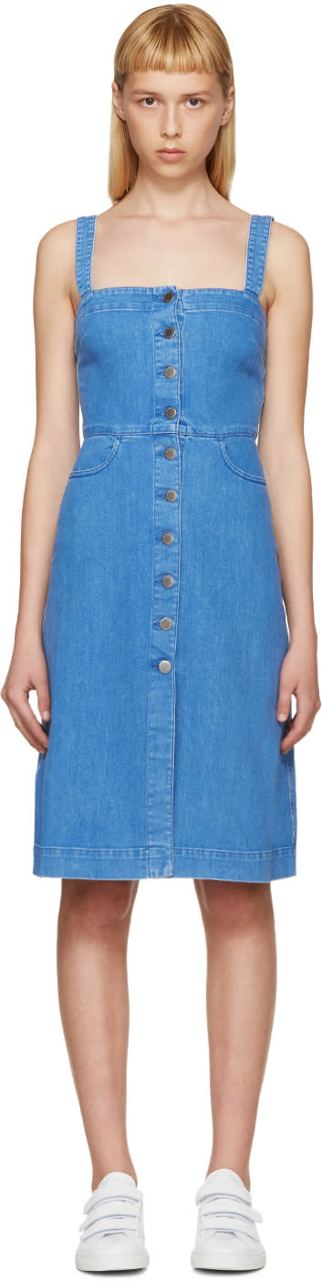 Stella Mccartney Blue Denim Linda Dress