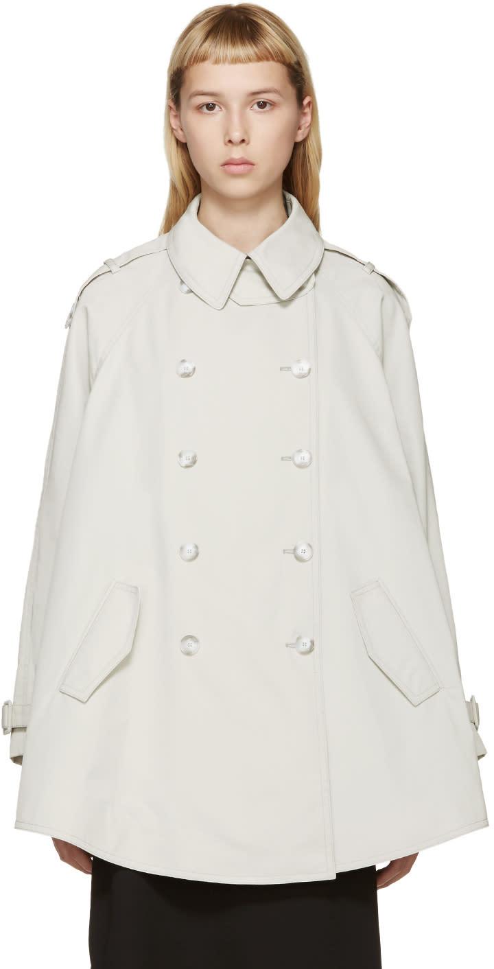 Stella Mccartney Beige Short Elsina Trench Coat