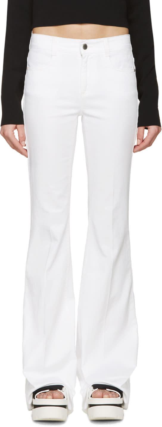 Stella Mccartney White 70s Flare Jeans