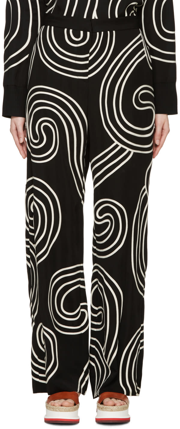 Stella Mccartney Black Swirl Ribbon Trousers