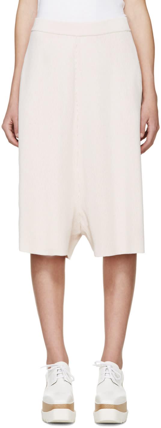 Stella Mccartney Pink Rib Knit Shorts