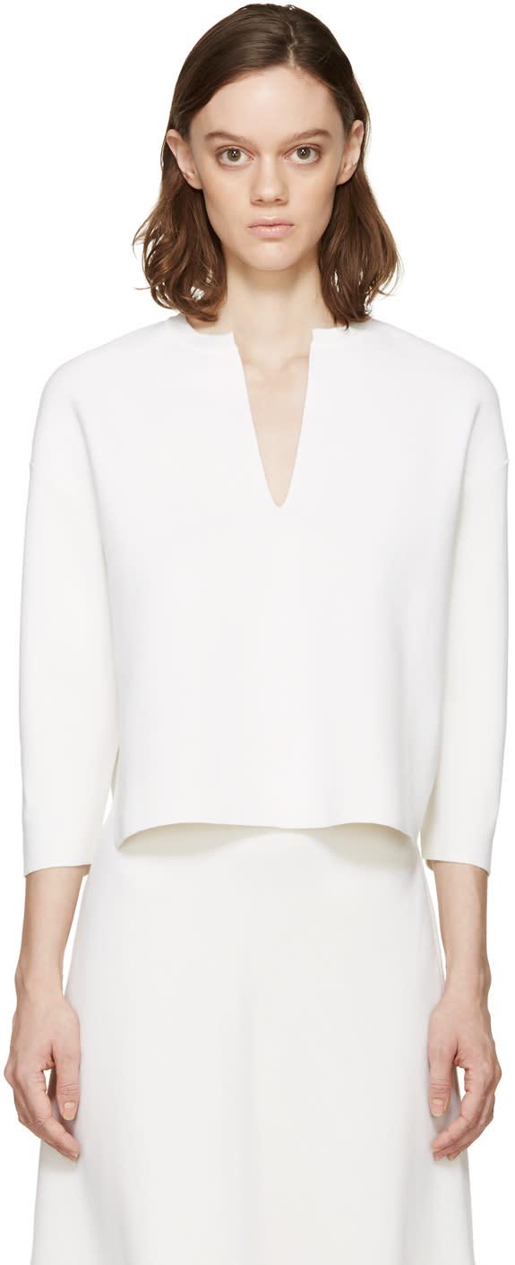 Stella Mccartney White Vented Collar Sweater
