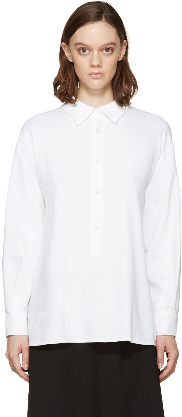 Stella Mccartney White Woven Lucas Shirt