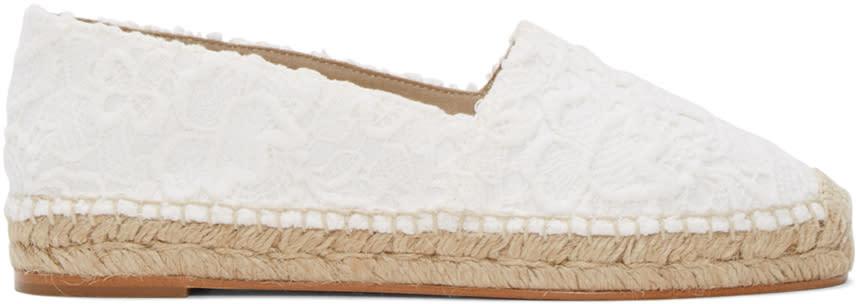 Stella Mccartney White Lace Espadrilles
