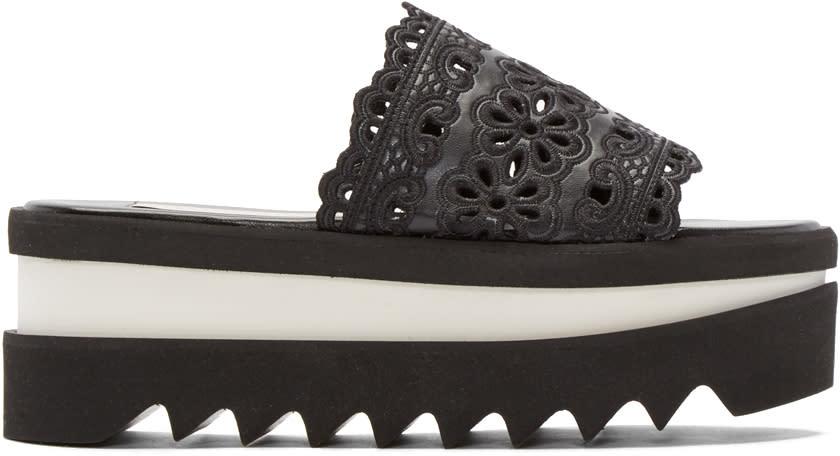 Stella Mccartney Black Lace Platform Sandals