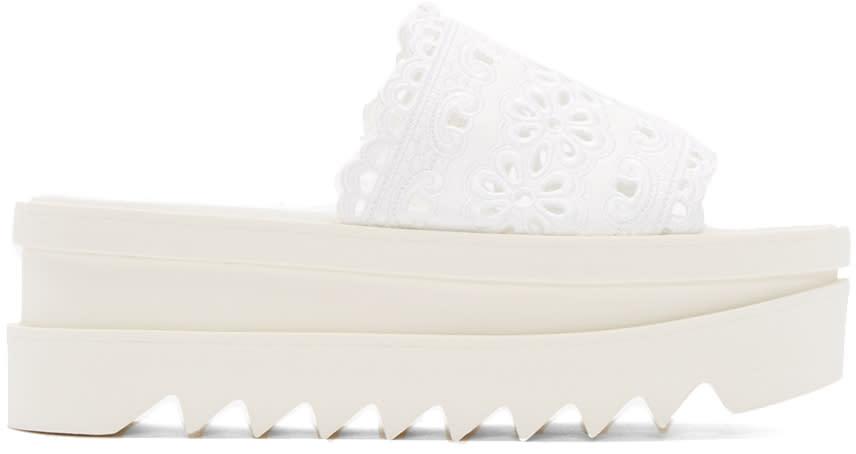 Stella Mccartney White Lace Platform Sandals