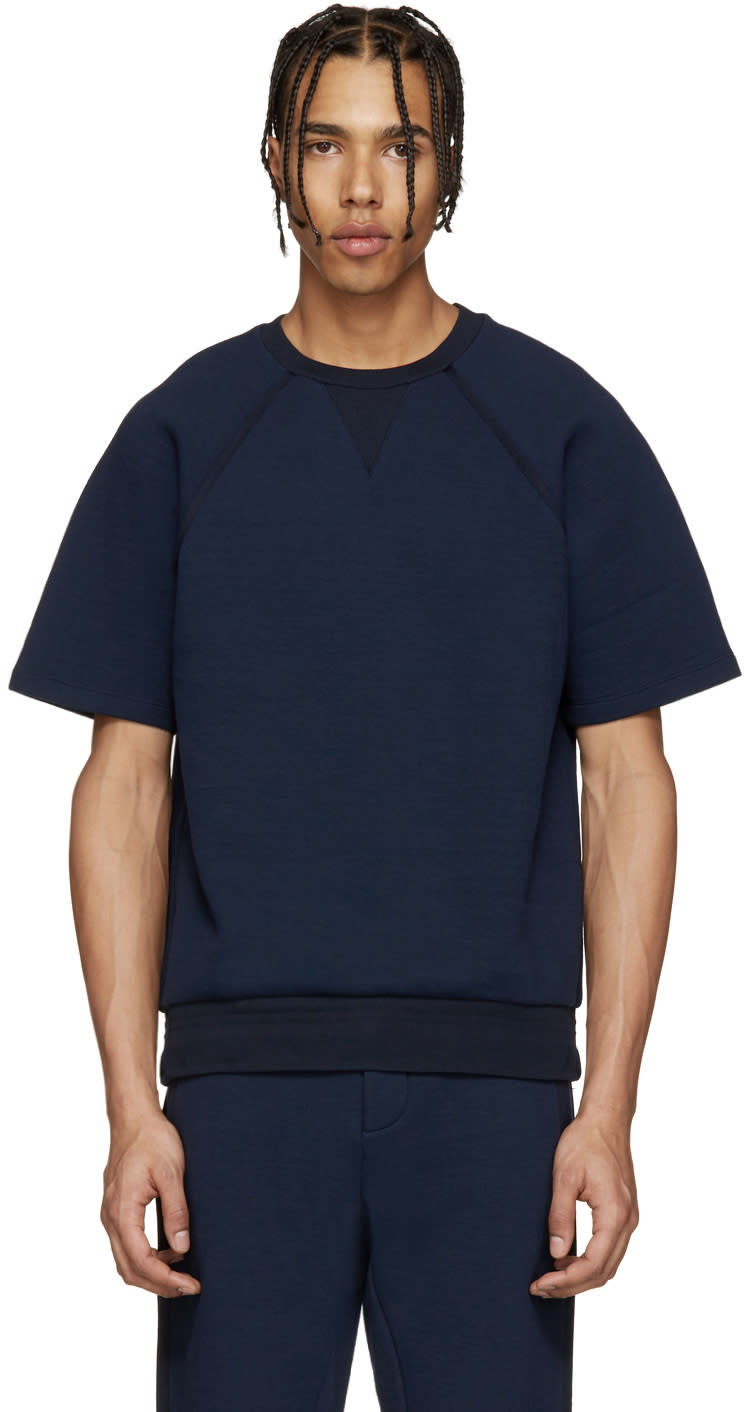 Umit Benan Navy Scuba Jersey Pullover