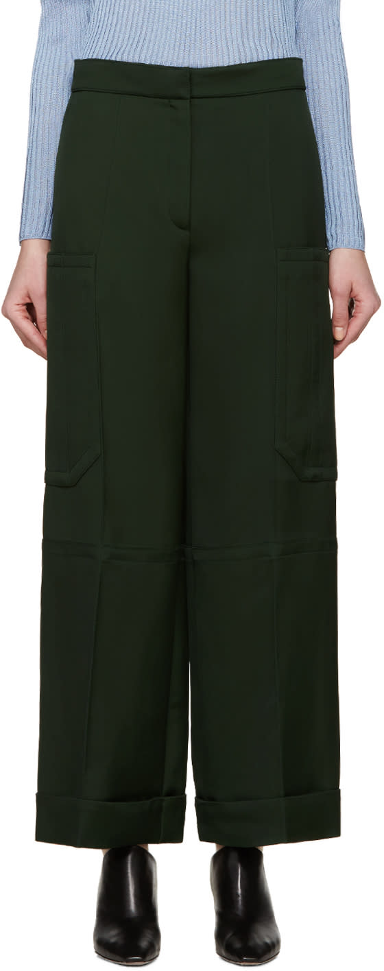 Nina Ricci Green Twill Trousers