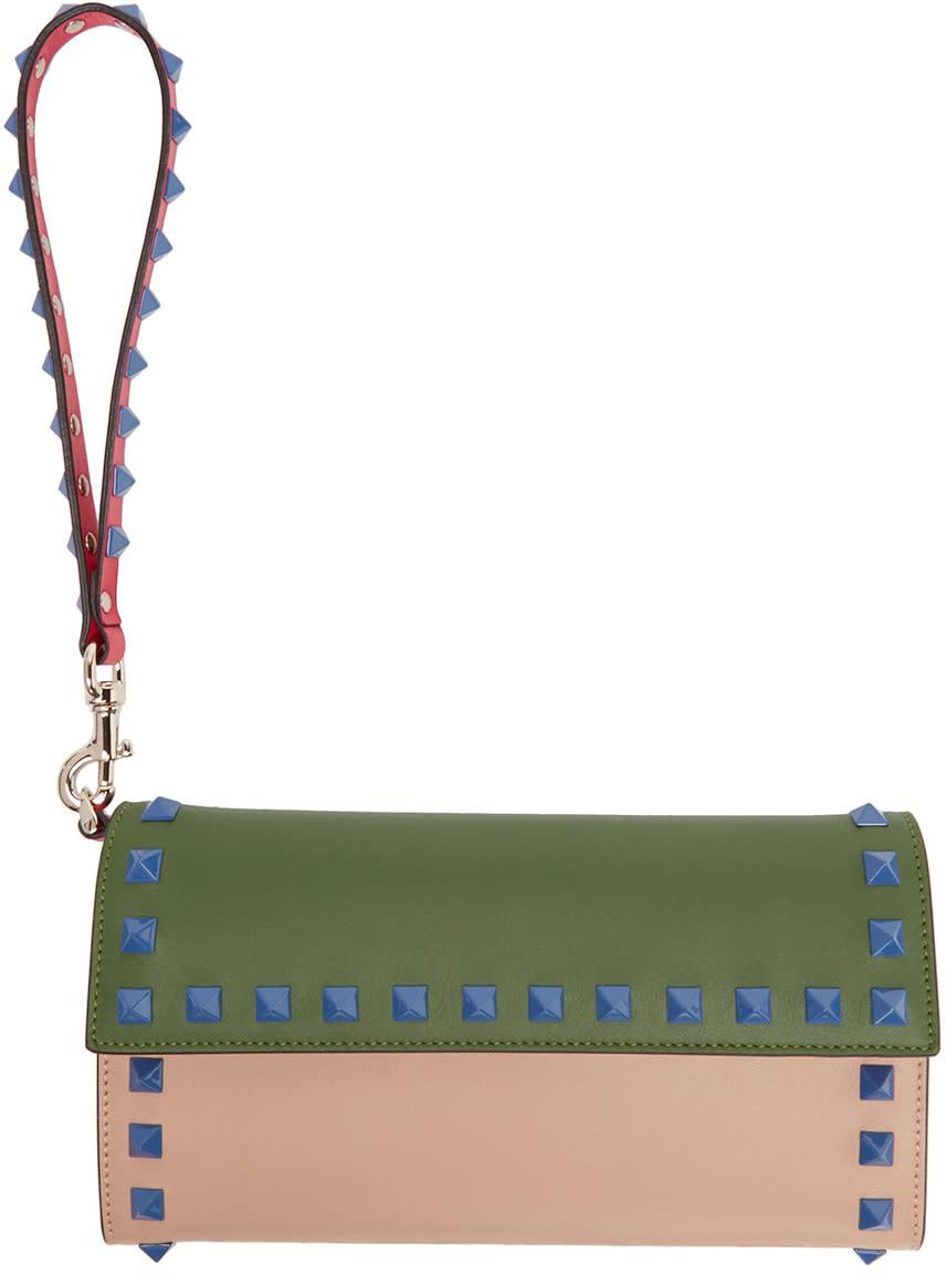 Valentino Multicolor Rockstud Continental Wallet