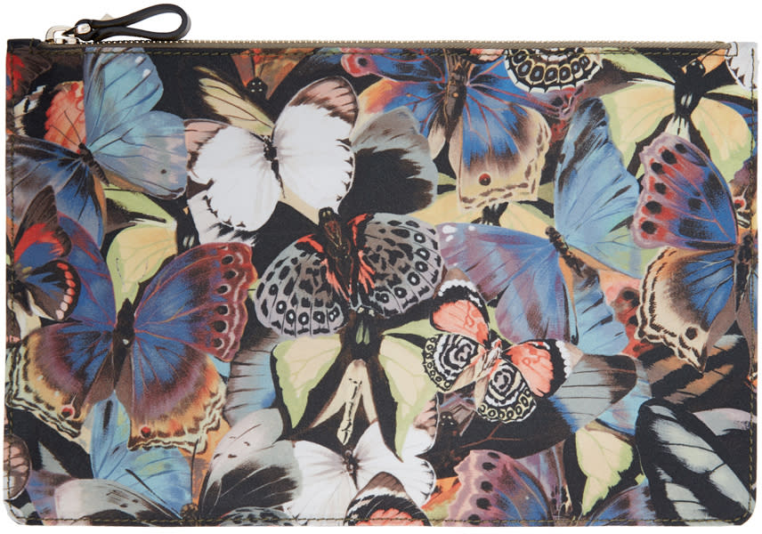 Valentino Multicolor Butterfly Pouch