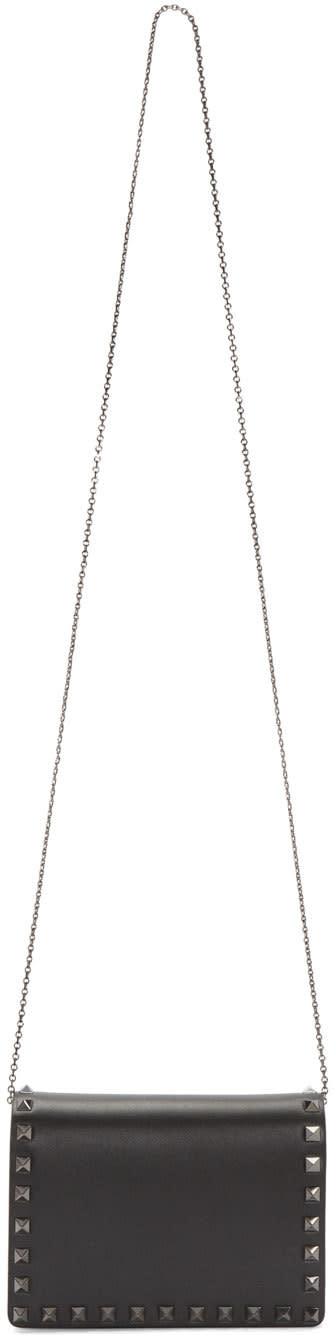 Valentino Black Small Rockstud Shoulder Bag