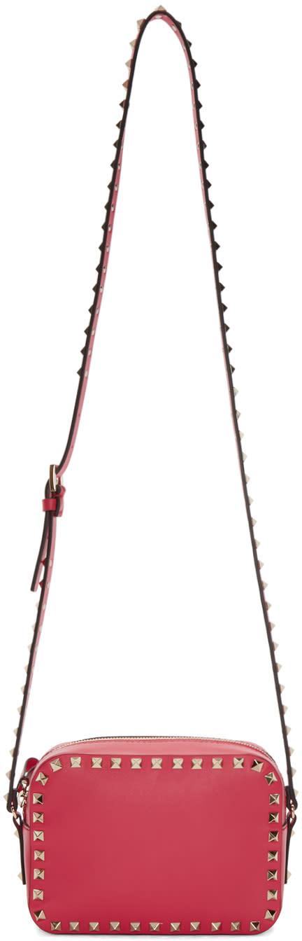 Valentino Pink Leather Rockstud Camera Bag