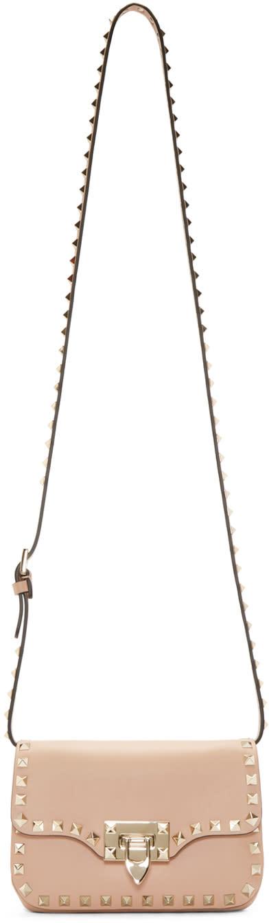 Valentino Pink Rockstud Clasp Shoulder Bag