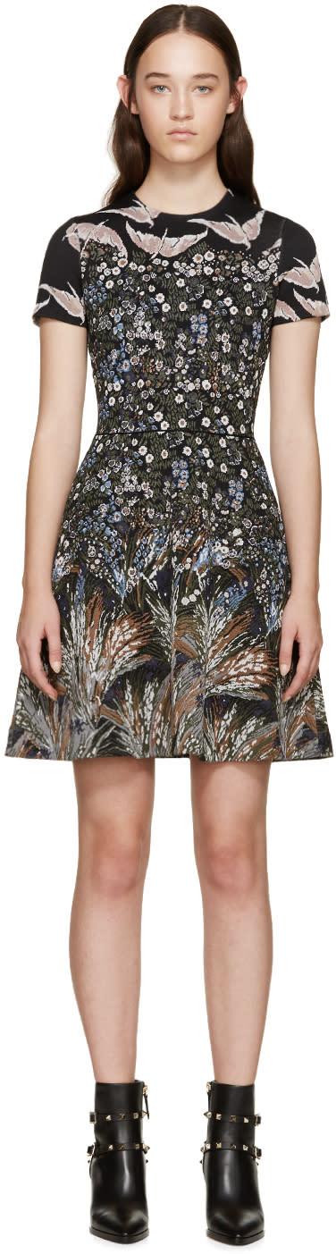 Valentino Multicolor Jacquard Garden Party Dress