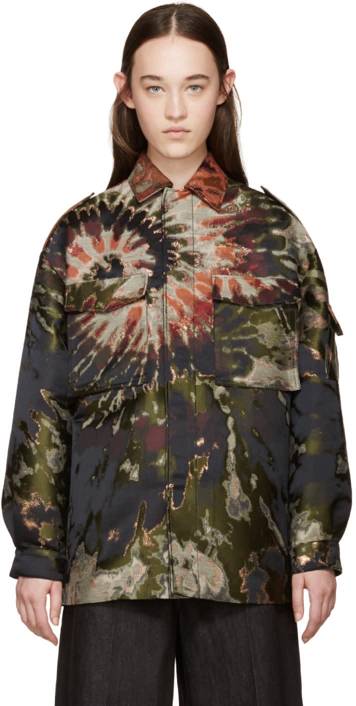Valentino Multicolor Tie Dye Brocade Jacket