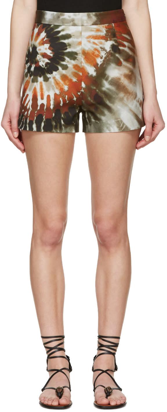 Valentino Multicolor Tie Dye Shorts