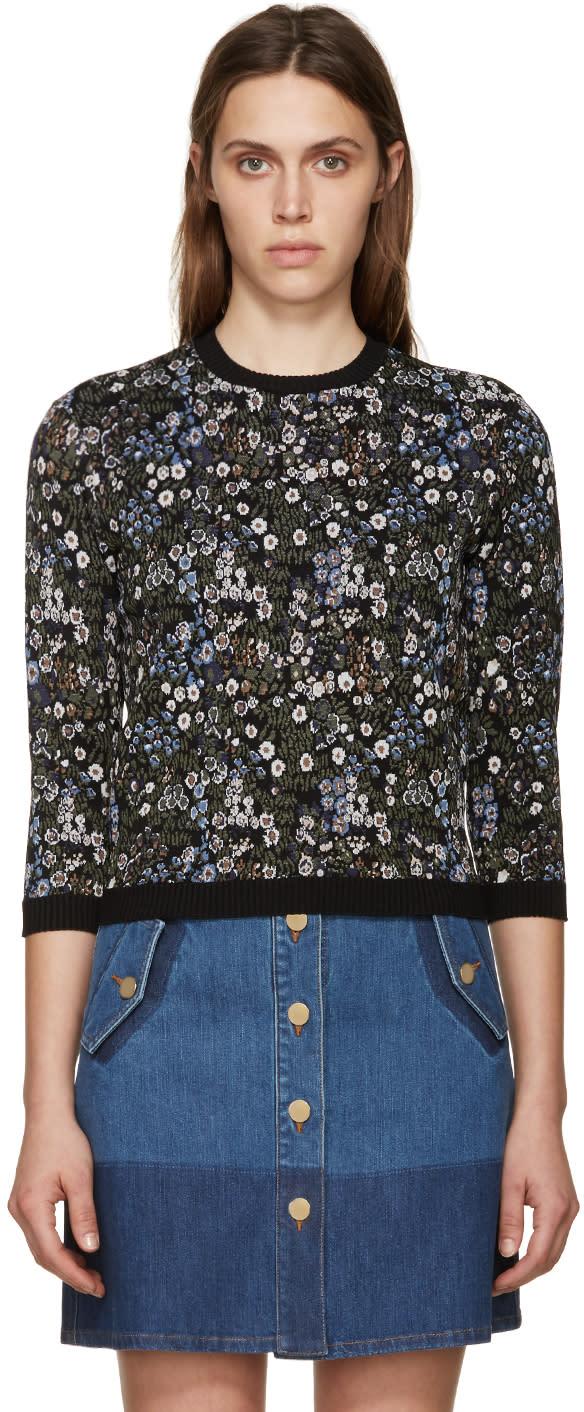 Valentino Multicolor Jacquard Garden Party Sweater