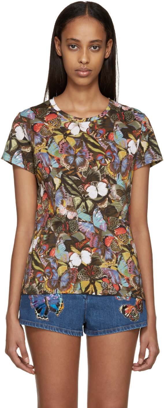 Valentino Multicolor Butterfly T-shirt