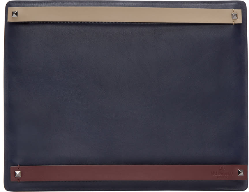Valentino Navy Multi-strap Document Holder