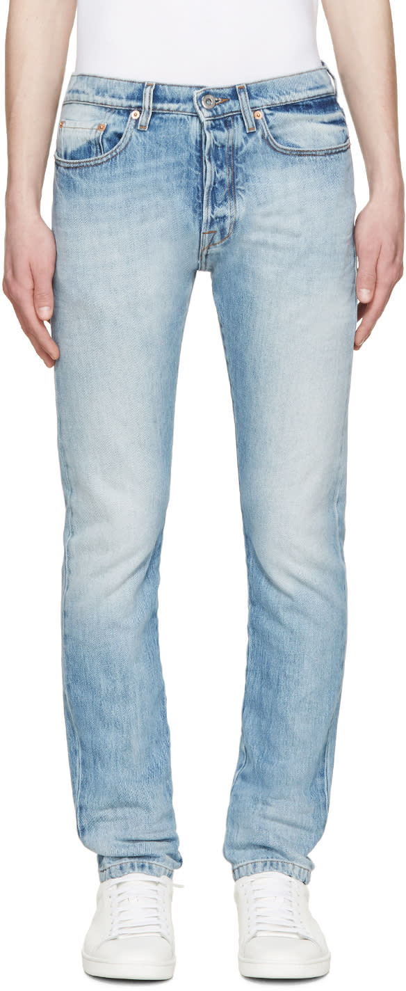 Valentino Blue Washed Slim Jeans