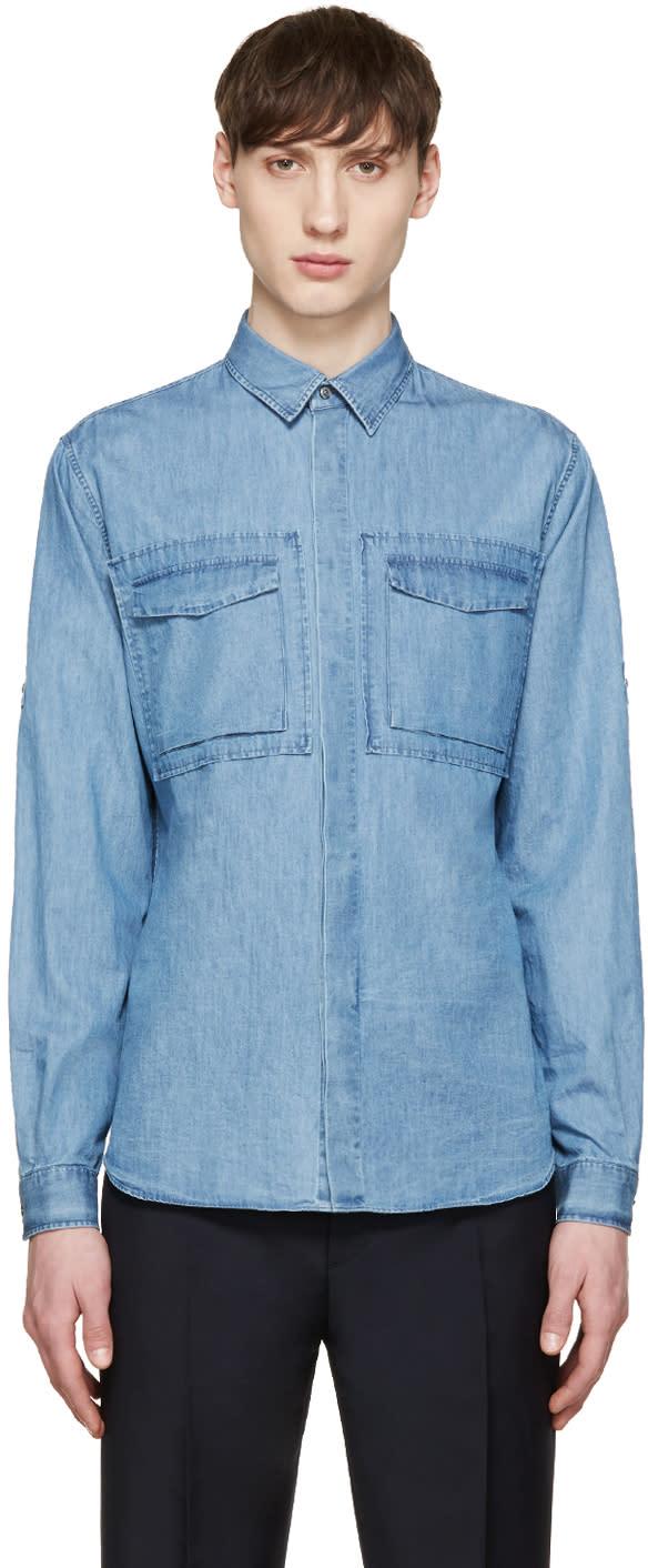 Valentino Blue Denim Shirt