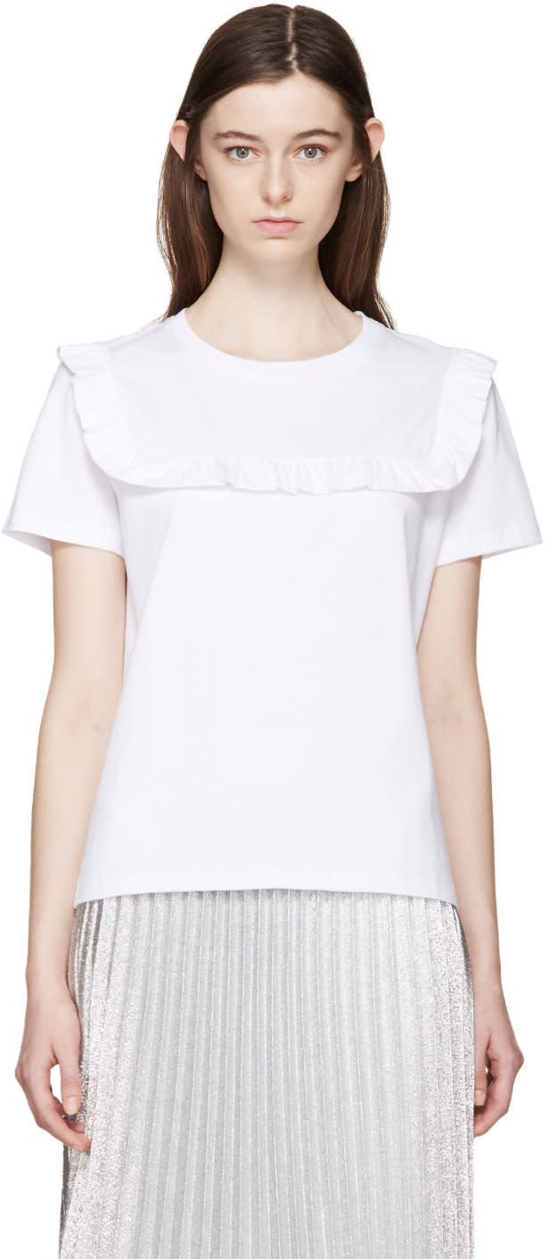 J.w.anderson White Frill T-shirt