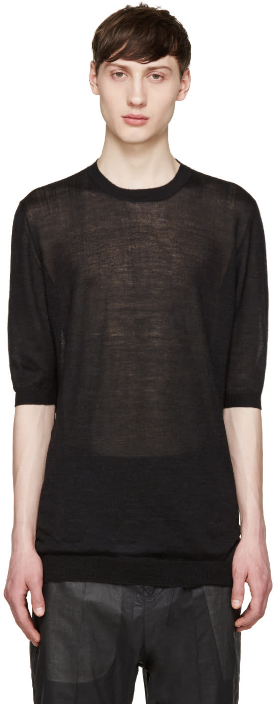 Thamanyah Black Cashmere Sweater