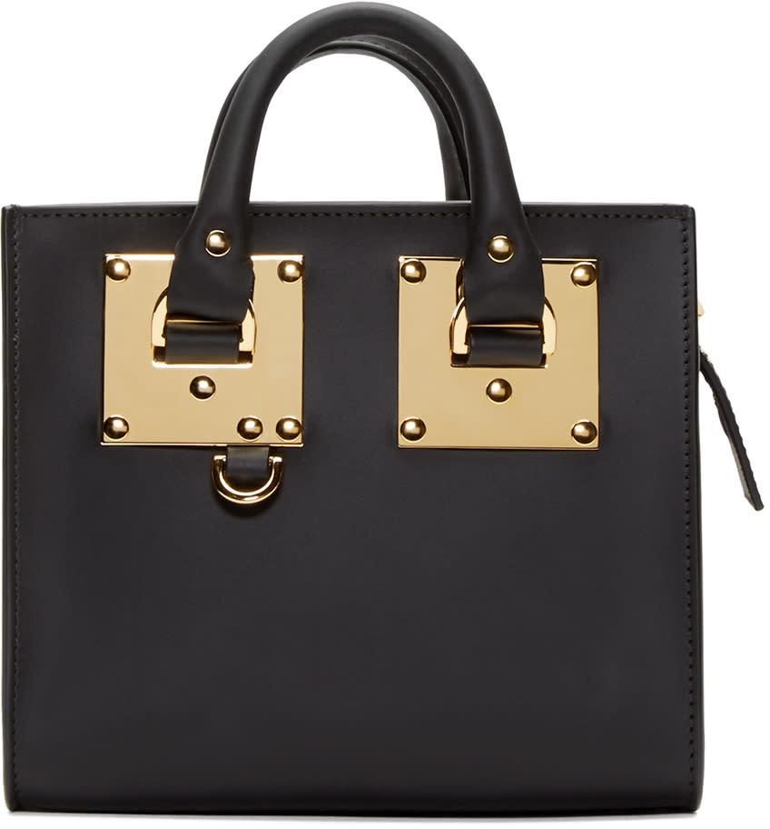 Sophie Hulme Black Nano Box Tote Bag