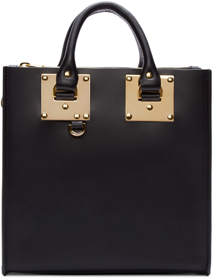 Sophie Hulme Black Mini Albion Square Tote Bag