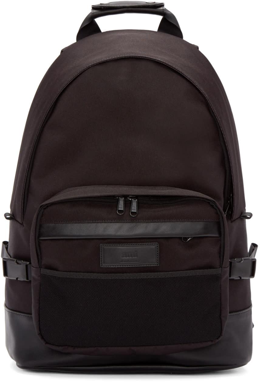 Ami Alexandre Mattiussi Black Nylon Backpack