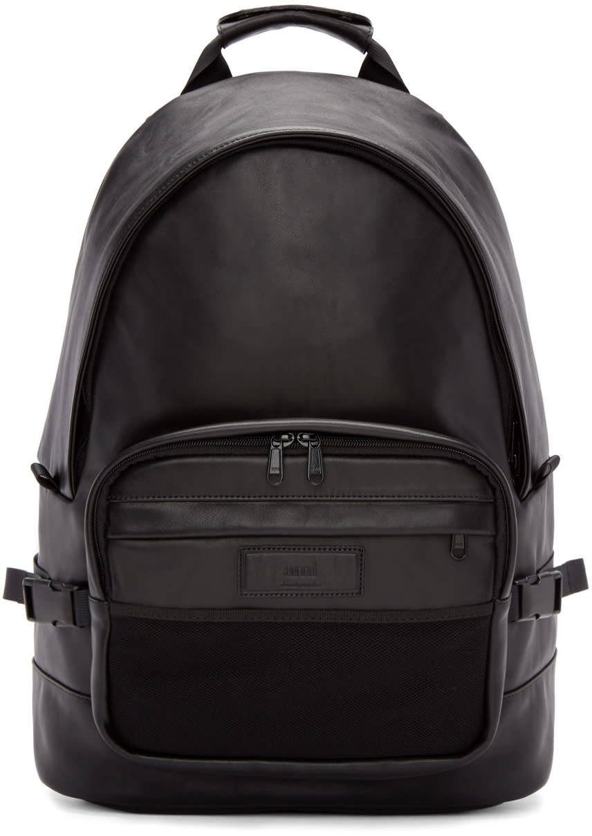 Ami Alexandre Mattiussi Black Leather Backpack