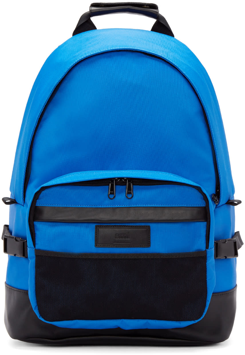 Ami Alexandre Mattiussi Blue and Black Nylon Backpack