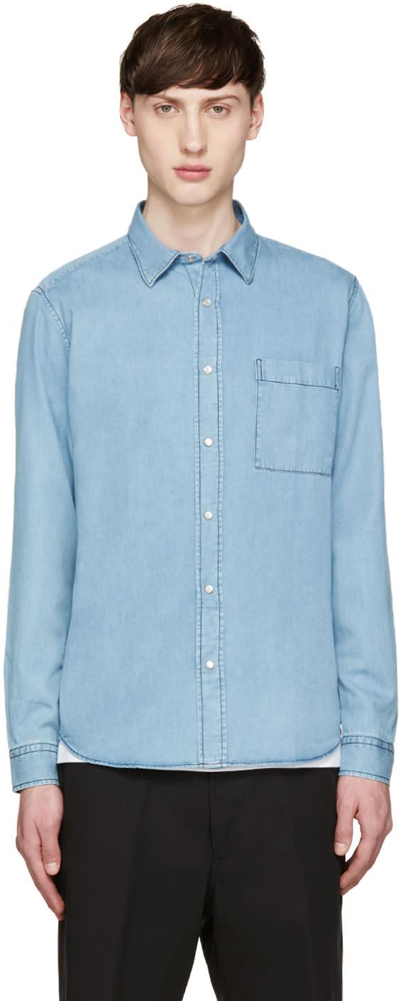 Ami Alexandre Mattiussi Blue Chambray Shirt