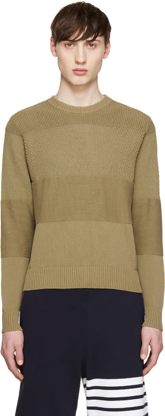 Ami Alexandre Mattiussi Green Knit Sweater