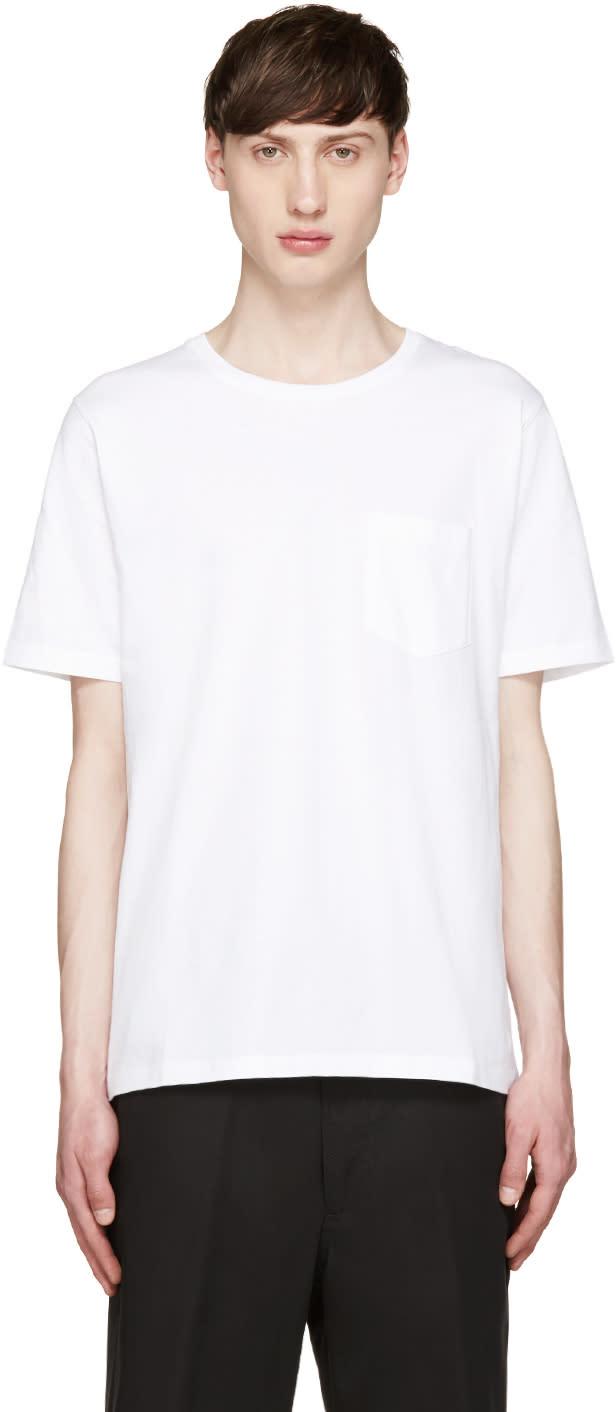 Ami Alexandre Mattiussi White Pocket T-shirt