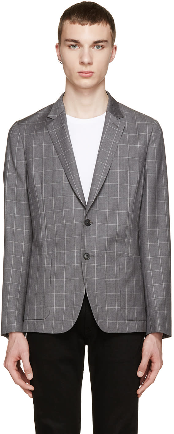 Paul Smith London Grey Check Loro Piana Blazer