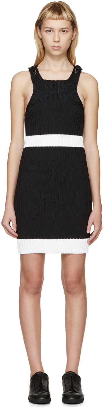 Image of Calvin Klein Collection Black Fitted Winslow Dress