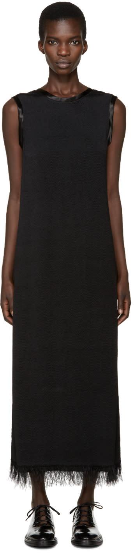 Calvin Klein Collection Black Fringed Gaia Dress