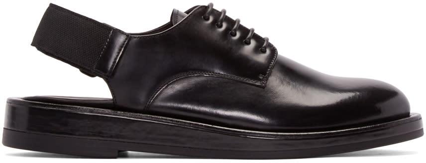 Calvin Klein Collection Black Leather Slingback Derbys